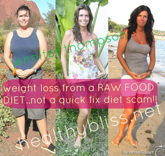 Raw Food Diet Weight Loss Before and After Raw Food Diet Detox Reboot